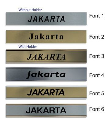 Jakarta Clock Name Plate |World Time Zone City Wall clocks Sign custom Plaque